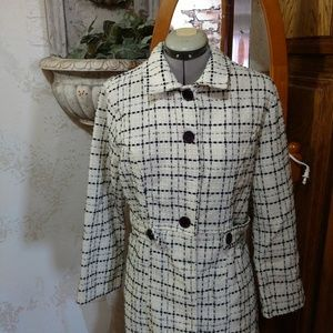 Black & White Vintage Swing coat